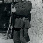 Il soldato Giacomo Bergomi probabilmente durante il periodo di addestramento ad Arsiero (Vicenza) nel 1943.