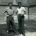 Annibale e Giacomo in occasione della prima visita al fratello malato a Gioia del Colle (Bari) il 25 luglio 1947.