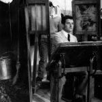 Bergomi ai corsi serali dell'Accademia di Brera, a Milano, a metà anni '50.
