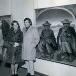 """Giacomo con la moglie Anna alla vernice della personale presso la """"Galleria d'Arte Bergamo"""" nel gennaio del 1972."""