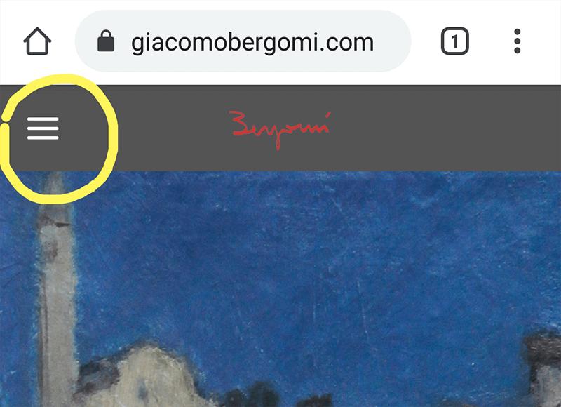 Problema menu mobile su giacomobergomi.com